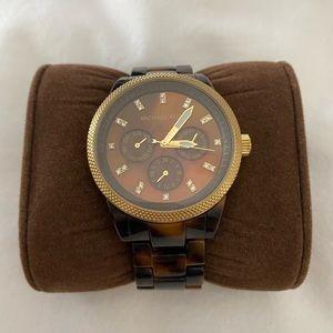 Michael Kors Tortoise Watch